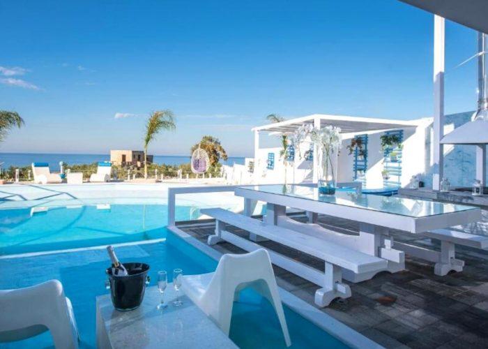 white luxury villa