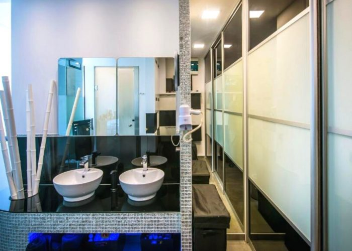 White Luxury Villa Bathroom